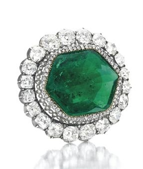 "The Catherine the Great Emerald and Diamond Brooch"" sold for $1,650,500 at Christies in April 2011"
