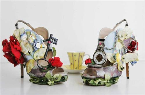 Alice in Wonderland Heels by Nicholas Kirkwood
