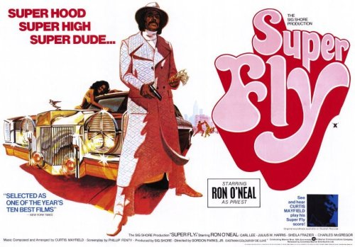 "Super Fly (1972) Backed by Curtis Mayfield's enticing score, this groovy 1970s action drama stars Ron O'Neal as big, bad Youngblood Priest, a cocaine dealer who realizes the thug life isn't for him and puts together one last deal that will net him enough money so he can start over. But he knows his ""colleagues"" won't quite agree with his escape plan, so he must find a way to save his soul and come out of the whole mayhem alive."