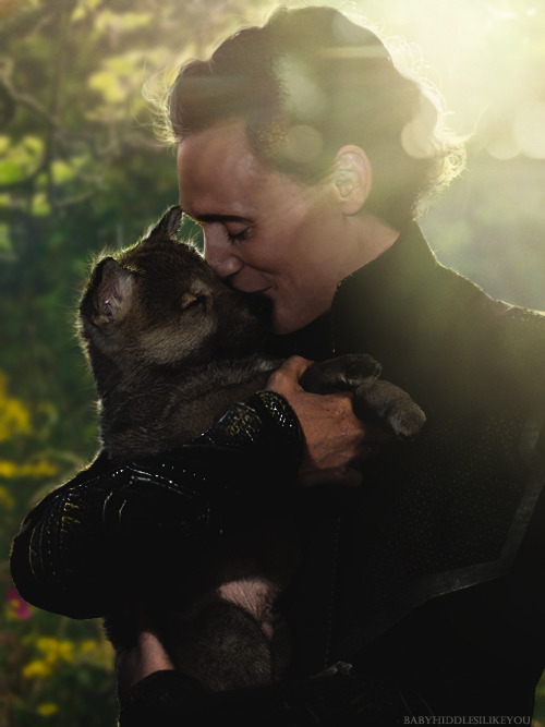 babyhiddlesilikeyou:  manip loki and his son fenrir