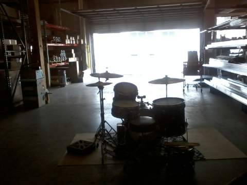 goddamn drums in da warehouse/practice space!