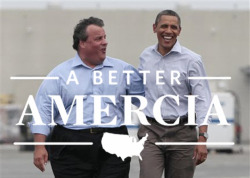 The power is finally back on at Mitt Romney for Amercia HQ. Let's look back at what we've missed in the past week.  First up are Max and Felix. This odd couple came together over their shared love of Federal spending on necessary relief efforts. Maybe they will discover they both like education, universal health care and human rights. Or they will continue to argue over who's turn it is to wash the dishes.