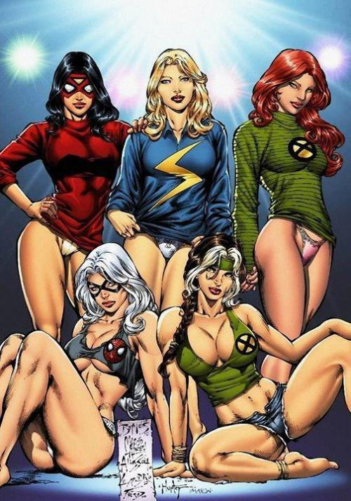 thrash-horror-comics:  Women of Marvel