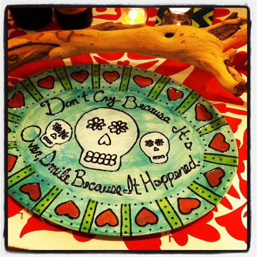 One of my first fired pieces. #diadelosmuertos #DIY #ceramics #recreateDIY