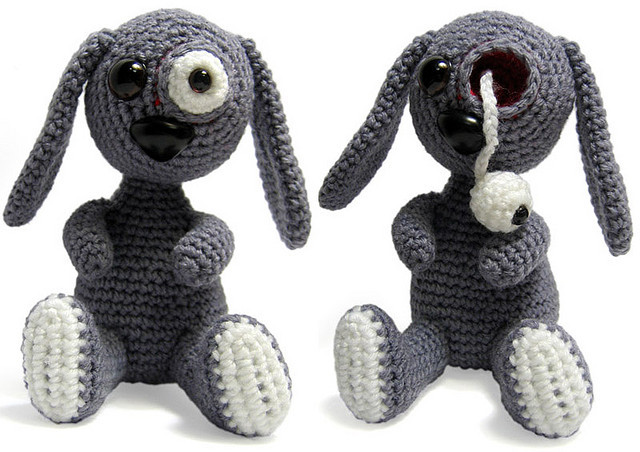 pop-eye bunny on Flickr.A bunny I made ages ago Sometimes miss making stupid creatures, maybe time to pick up the crochet hook again