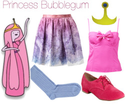 Princess Bubblegum por bibi-862 con forever newForever New , $52 / Opening Ceremony , $515 / DV by Dolce Vita  / Barneys New York Solid Ribbed Sock / Princess Bubblegum Crown Costume Cosplay Adventuretime