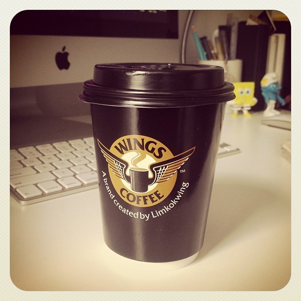 Complementary Latté from Wings Cafē for a regular customer. ☕😄 #cafe #latte #coffee #morning #complementary #wingscafe #luct #hot #refreshing #goodmorning #free #customer (at LUCT Hostel On Campus New)