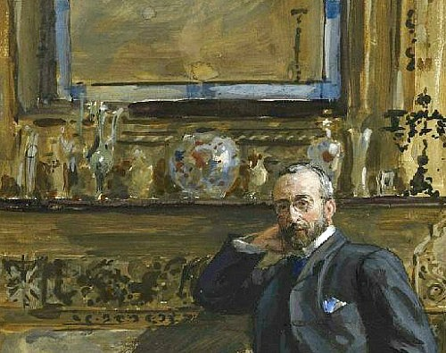 Sydney Prior Hall Gentleman in an Interior, detail 1905