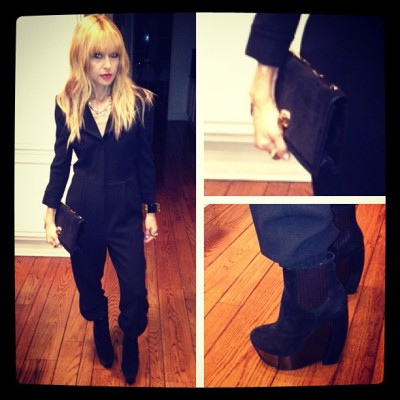 rachelzoe:  Out to a friend's birthday dinner in collection!  Luv