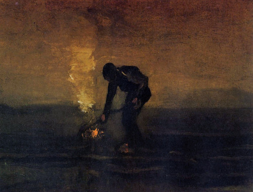 tamburina:  Vincent van Gogh, Peasant Burning Weeds, 1883
