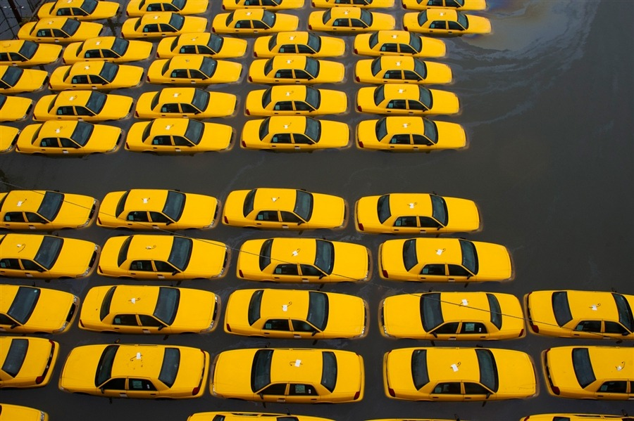 Via NBC News, surreal scenes captured by photojournalists in Sandy's wake. (Photos by Steve Earley / The Virginian-Pilot via the AP; Ramin Talae / Press Association; Lucas Jackson / Reuters; and Charles Sykes / AP via NBC News)