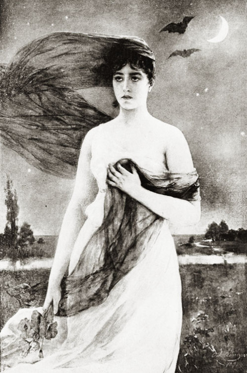 Night by Otto Lingner, 1892  (x)