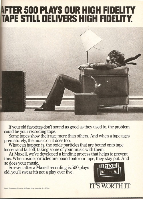 Maxell. Ad from Playboy, December 1981.
