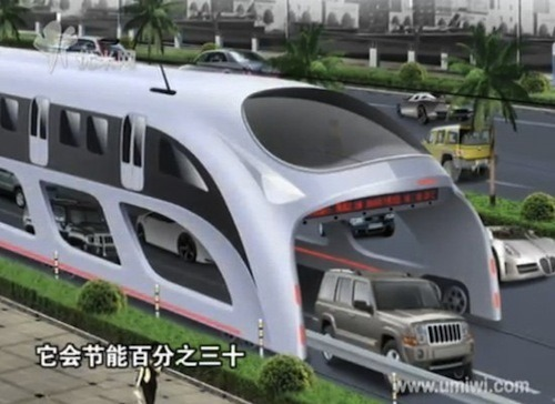 A bus you can drive under | Shenzhen Huashi Future Parking Equipment co.