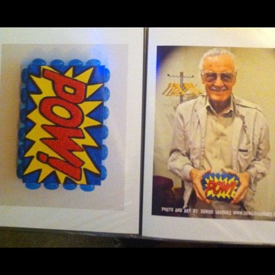 @TheRealStanLee Holding #mixedmedia #POW #Art by @DeniseVasquez