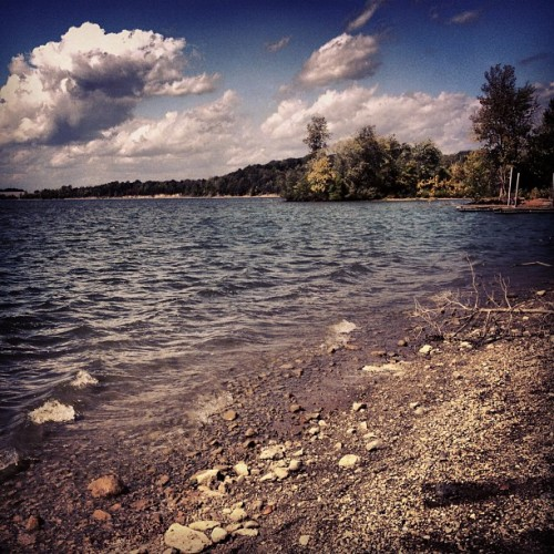 Everything #lake #water #instagram #iphone #clouds #sky #