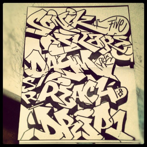 style-and-flow:  Src crew 30 minute freestyles #graff #graffiti #art