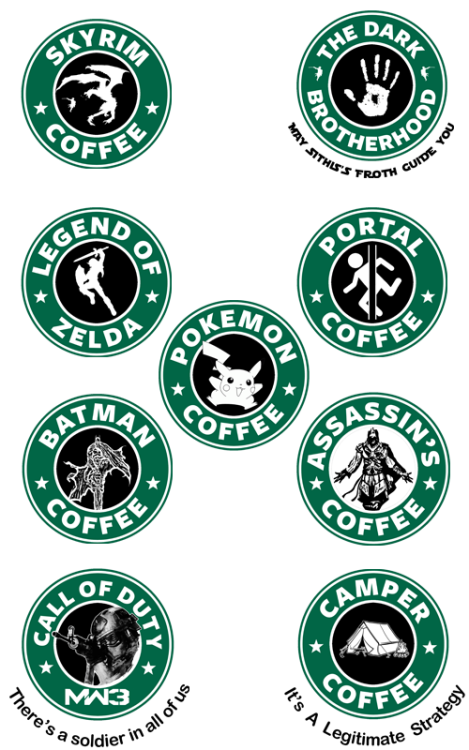 "royalbrosart:  Video Games ""StarBucks"" Coffee - by Royal Bros Art T-Shirts, Stickers & iPhone Cases available on RedBubble Artist: 