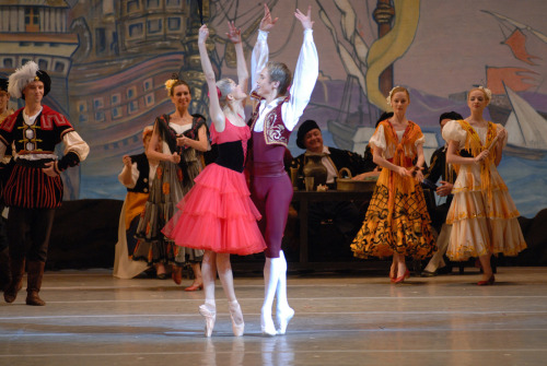 Alina Somova and Leonid Sarafanov in Don Quixote. Photo by Valentin Baranovsky.
