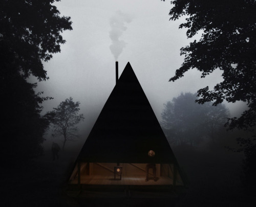 "cabinporn:  ""Black Lodge"" by Jagnefalt Milton in Furillen, Sweden. Submitted by Georgia Weitenberg"