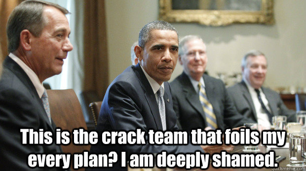 barackthelegislayer:  Spike: This is the crack team that foils my every plan? I am deeply shamed.Something Blue - 4x09