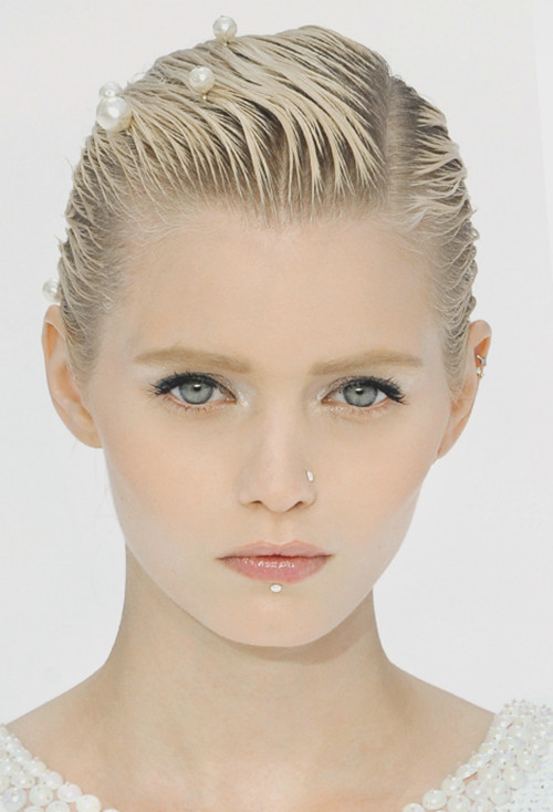 wink-smile-pout:  Abbey Lee Kershaw at Chanel Spring 2012