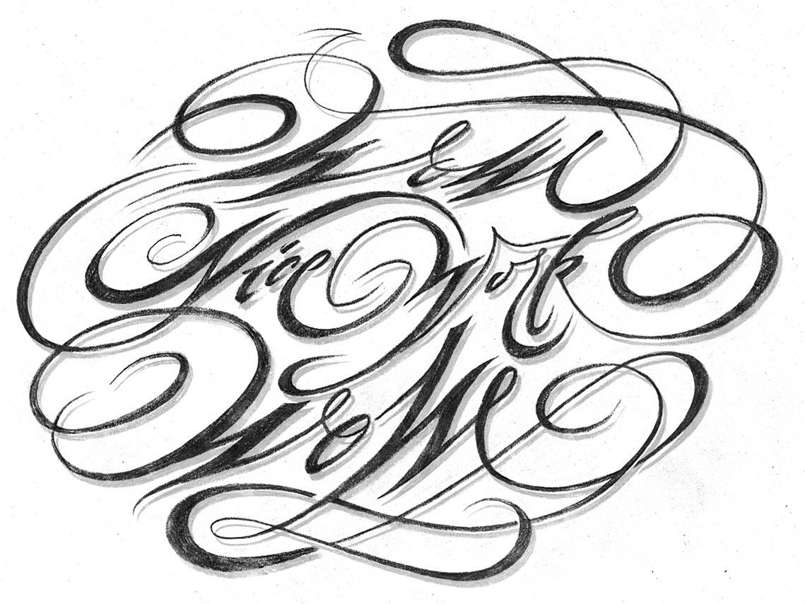 Calligraphi.ca - Wow Nice Work, (graphite on paper) by @andreirobu.
