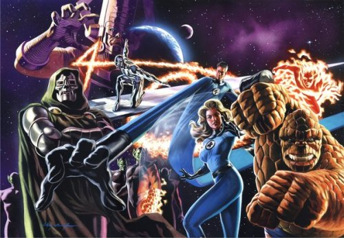 Fantastic Four illustration by Felipe Massafera for a Brazillian superhero magazine