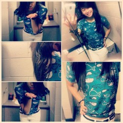 cutest shirt I own. <3 whales. #OOTD #wdywt #fashion