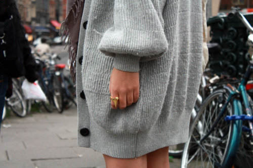 Baggy,Bike,Buttons,Cute,Fashion,Grey,Jumper,Street chic,Pretty,Tan,