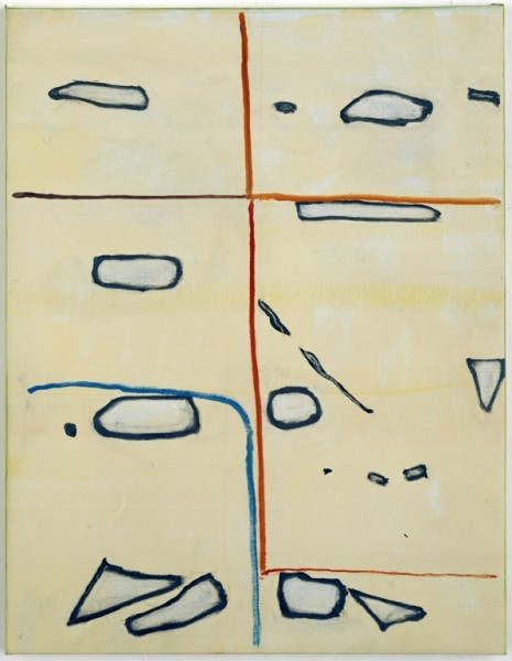 "treeknot:  Raoul De Keyser, Cage, 2003. Oil on canvas, 25 3/5 x 19 2/3""."