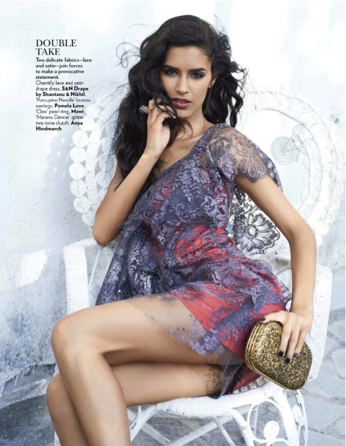 lovelostfashionfound:  Jaslene Gonzalez - Vogue India September 2012