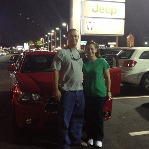 The Deckers in front of their new Dodge Charger rt! #dodge #orlando #orlandododge #orlandododgechyslerjeep #charger #rt  (at Orlando Dodge Chrysler Jeep)