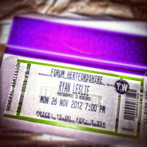 Got My @RyanLeslie Ticket In The Post Today!!! Gassed! Lets gooooo!!! #RyanLeslie