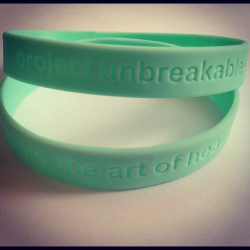 Project Unbreakable wristbands are back in stock! Click on the photo above to order :)