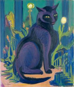 peira:   Ernst Ludwig Kirchner:  Black Cat (1926) via Artinthepicture