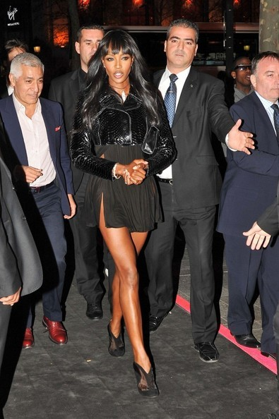 Supermodel Naomi Campbell at the Renault Launch Party