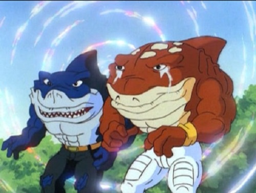 WHAT SHOW WERE THESE SHARK DUDES FROM AARARGHHH
