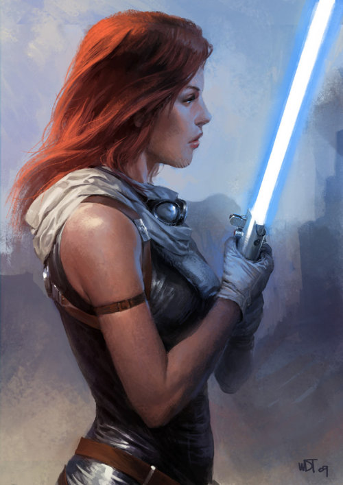 themarysue:  fuckyeahsuperheroines:  Mara Jade by wraithdt  I don't know much about the expanded universe, but I've learned through osmosis that Mara Jade is awesome. Don't know why, but I trust geeky osmosis. Maybe Disney will get around to telling me in the next few years?