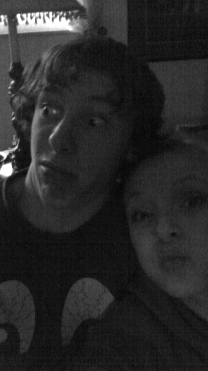 Being silly wih the boyfriend. :P