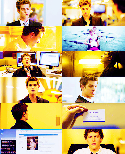 "mpriestlys:  The Social Network (2010)  ""We lived on farms, then we lived in cities, and now we're going to live on the internet!"""