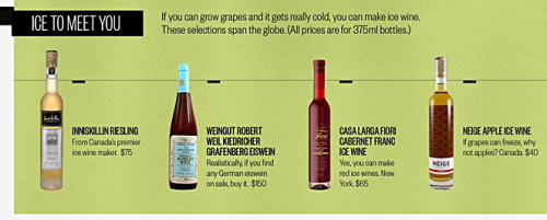 Have you ever tried ice wine? Unlike normal wines, ice wine is made from grapes so naturally frozen on the vine that they sound like marbles falling into the bucket. The process is quick, precise, and extremely difficult. Our drinkhacker, Christopher Null, breaks it down.
