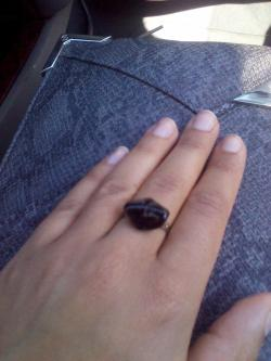 Ring I got at Etsy Fest with Bailey.