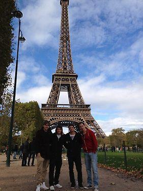 the1dnavy:  Sandy, Dan, Josh and Jon (the boys' band) in Paris :)