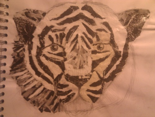 unfinished tiger collage :/