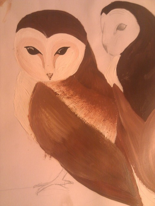 unfinished owls i think like, most of my work is unfinished…