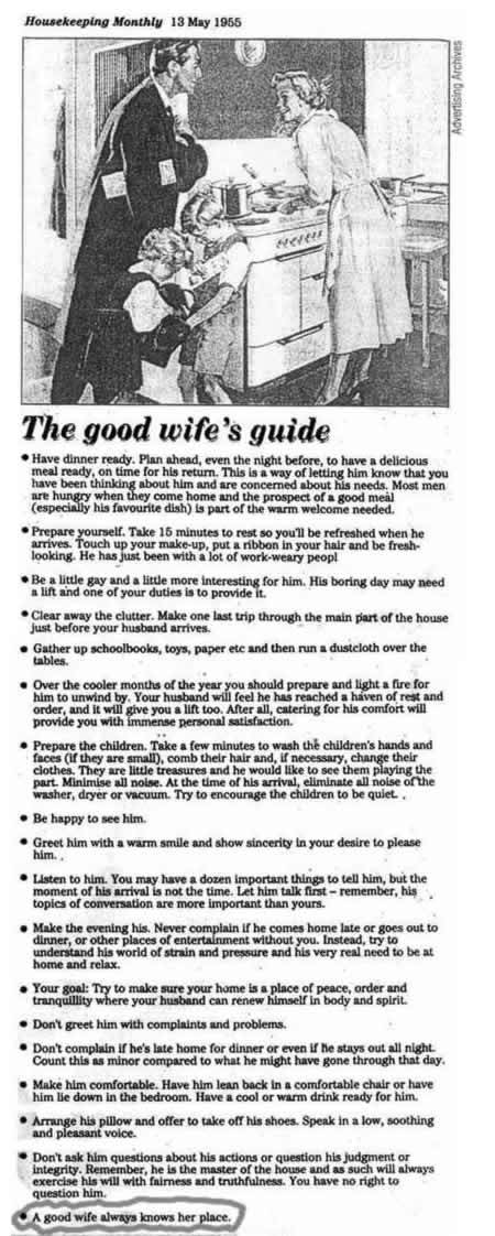 1955 good housewife manual
