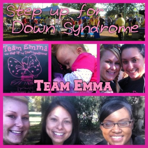 Successful walk for Down Syndrome and the sweet little lady Emma.🎀💗