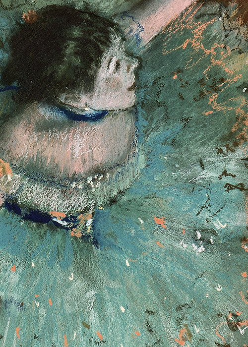 sophistae:  Edgar Degas, Swaying Dancer (Dancer in Green) (detail), 1877-9 (x)