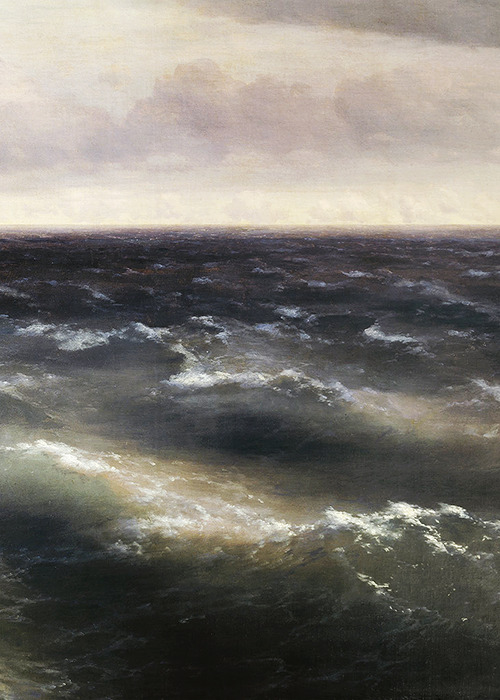 Ivan Aivazovsky, The Black Sea (detail), 1881